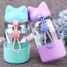 "4 Colors sakura cateen neko kitty water bottle SE10558      Coupon code ""cutekawaii"" for 10% off"