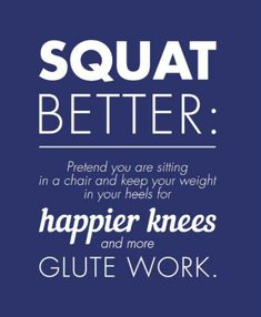 Get to squatting