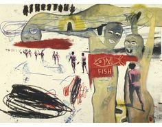 Francesco Clemente | Cilindrone (Basquiat-Clemente-Warhol Collaboration) 1984