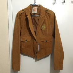 Brand new 100% leather brown outerwear jacket New never worn tan/brown 100% real leather jacket. New with tags Dollhouse Jackets & Coats
