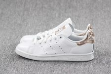 Women's Adidas Stan Smith Copper White Kettle Snakeskin Metallic Rose Gold 5-11