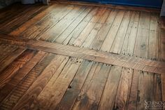 Pallet Flooring- this is what I want to do in my hall bathroom!