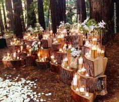 Beautiful backdrop idea for a wedding