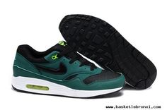 Authentic Mens Nike Air Max 1 Green Black Shoes