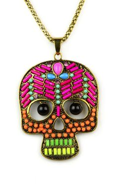 Acid Skull Necklace - SilkFred  #EmiJewellery >>