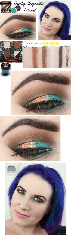 Darling Vengeance Tutorial featuring Urban Decay and Sugarpill  #crueltyfree #urbandecay #sugarpill #teal #copper #eyeshadow #makeup #tutorial