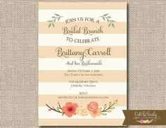 Fall Bridal Shower Invitation or Bridal Luncheon by Oohlalovely, $15.00