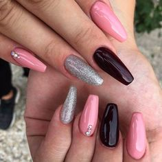 45 Burgundy Matte Coffin Nail Colors Designs For 2019 Burgundy Nail Designs, Burgundy Nail Art, Colorful Nail Designs, Burgundy Color, Nail Art Designs, Coffin Nails Matte, Popular Colors, Rhinestone Nails, Gorgeous Nails