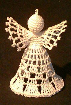 Háčkování Crochet Bikini Pattern, Crochet Patterns, Christmas Angels, Christmas Ornaments, Crochet Angels, Angel Ornaments, Chrochet, Xmas Decorations, Decorative Bells