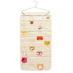 Canvas 80-pocket Hanging Jewelry Organizer
