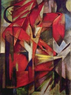 Franz Marc The Foxes  Giclee Fine Art Canvas Print Repro