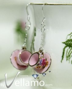 Pendant and earrings delicate sterling silver sugar by byVellamo, $45.00
