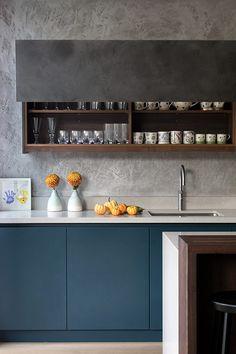 New Kitchen Blue Walls Dark Cabinets Ideas Diy Kitchen Decor, Kitchen Furniture, Kitchen Design, Cheap Furniture, Furniture Nyc, Furniture Stores, Furniture Websites, Furniture Online, Luxury Furniture
