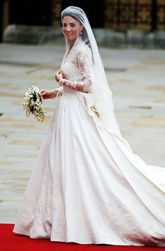 April 29, 2011  British officials predicted over 2 billion people watched the nuptials of Prince William and Catherine Middleton on April 29, 2011, and what a wedding it was! The bride emerged in a custom Sarah Burton for Alexander McQueen dress that is forever etched into the memories of millions. It went on display at Buckingham Palace over the summer of 2011, and broke records—more than 600,000 went to see it