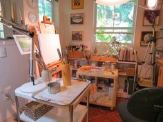 Well utilized small space for an art studio
