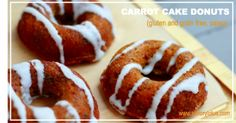 Carrot Cake Donuts (gluten and grain free, paleo) -
