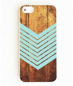 On Your Case Inc Woodgrain Chevron iPhone 5/5s Cover ($22)