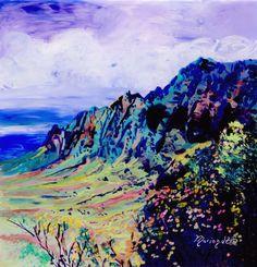 Kalalau Valley Kauai Original Reverse Acrylic by kauaiartist