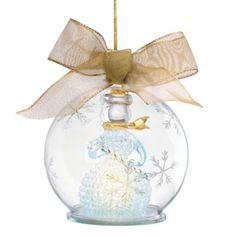 Lenox® Lighted Snowman Wonderball Ornament - BedBathandBeyond.com