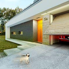 Modny - dom parterowy z poddaszem użytkowym i garażem   doomo