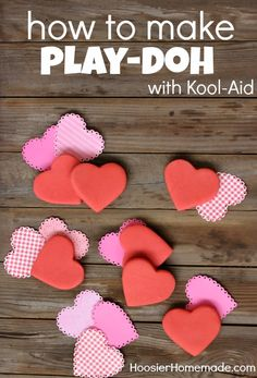 Valentine's Day Classroom Gifts: How to make Kool-Aid Play-Doh :: Recipe on HoosierHomemade.com