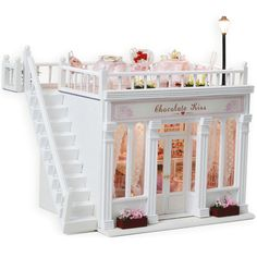 Free shipping Diy Doll House Miniature Model Building 3D handmade Dollhouse  kits Toys Christmas birthday Gift Toy-chocolate.