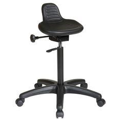 Office Star Products 'Work Smart' Backless Urethane Stool with Seat Angle Adjustment Nylon Base