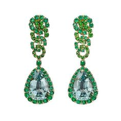 """""""Cascade"""" earrings, showcasing a larger pear-shaped aquamarine, accented by circular-cut emeralds and tsavorite garnets, in 18k yellow gold by Verdura. . #verdura #verduraearrings #pearshaped #aquamarine #tsavoritegarnet #tsavorite #garnets #yellowgold #earrings #earringsofinstagram #jewelry #jewelsofinstagram #jewellery #instajewels #instajewelry #highjewellerydream #jewels #instastyle #jewelleryblogger #jewelrydiary #jewelrypost #schmuckblogger #finejewelry"""