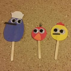 Popsicle stick puppets. Peep and the Big Wide World. Quack, Chirp, & Peep. Kid Crafts