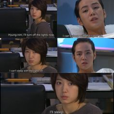 Jang keun suk and park shin hye as hwang tae kyung and go mi mam in you're beautiful
