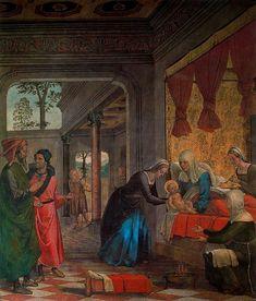 """JUAN DE BORGOÑA: """"El nacimiento de la Virgen"""", decoración al fresco de la Sala Capitular de la Catedral de Toledo (1509-1511)."""
