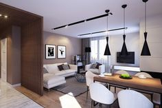 Stylish Open-Layout Apartment Design in Saint Petersburg by GEOMETRIUM - Freshome