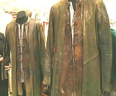 "LotR costumes. Layering, and ""out-of-place"" seams. Also, frog closures, mandarin collars, and sleeve detail."
