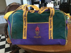 Vintage 1996 Olympics Gym Bag Atlanta.