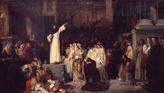 Ludwig von Langenmantel, Savonarola Preaching Against Luxury and Preparing the Bonfire of the Vanities, 1881.