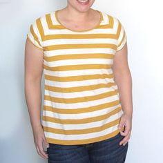 Learn how to sew a raglan tee - how to make a shirt with baseball style sleeves. Easy sewing tutorial with step by step photos.