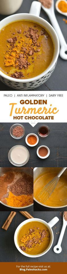 Golden milk and dark chocolate combine in this deliciously anti-inflammatory hot chocolate drink. Get the full recipe here: http://paleo.co/turmhotchoc