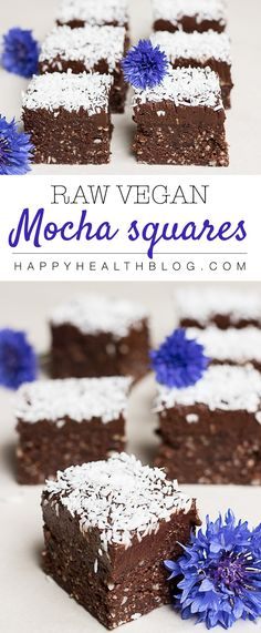 Mocha Squares, Kärleksmums, Snoddas, Love yummies - Gluten free, vegan, moist, rich, chocolaty and with a hint of freshly brewed coffee! Photo: Natalie Yonan
