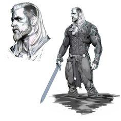 Viking sketch, Olivier Thill on ArtStation at https://www.artstation.com/artwork/EJ5Ne