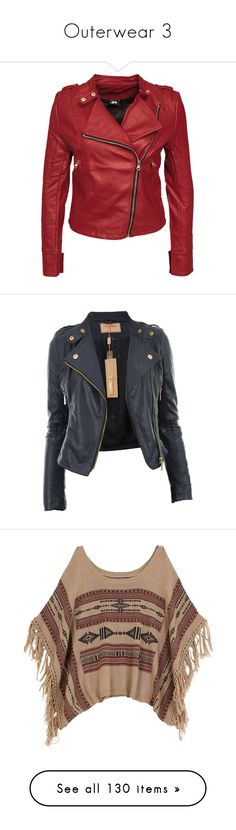 """""""Outerwear 3"""" by samtiritilli ❤ liked on Polyvore featuring outerwear, jackets, leather jacket, coats & jackets, womens-fashion, biker jackets, fleece-lined jackets, red leather jacket, moto jackets and tall leather jacket"""