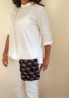 Fabric Clutch bags Clutch Purse Crossbody Purse  by vquadroitaly