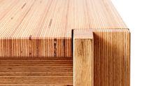 Utzon dinner table in oiled baubuche from Mål: cm. Bar Furniture, Furniture Making, Furniture Design, Mobile Bar, Dinner Table, Decoration, Teak, Minimalism, Solid Wood