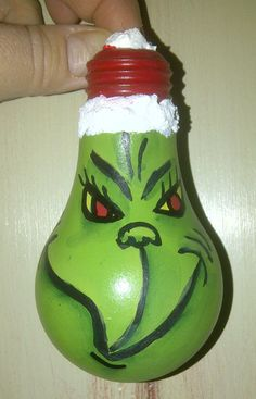 My favorite ornaments given to me this year. Light bulb Grinch, crafted by my friend Keri. And this one sent to me by my friend Nancy at Whispered ...