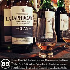 I love the Laphroaig An Cuan Mor and wish I could actually get it outside of travel retail. The nose is captivating, I could sit and sniff it for hours, the flavor is inviting and rich and the finish fits perfectly. I already mentioned this above, but I'm serious when I say that An Cuan Mor is one of the main reasons I go to every official Laphroaig tasting I can. I know it will be there and I know if I give the rep the ol' sad whisky blogger eyes I might score a second glass… emphasis on…