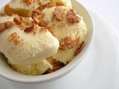 Cardamom Ice Cream with Almond Crumble