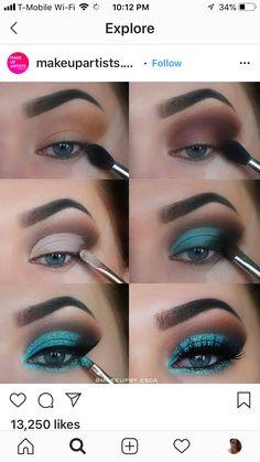 Dark Eye Makeup, Eye Makeup Steps, Eye Makeup Art, Skin Makeup, Eyeshadow Makeup, Natural Makeup, Makeup Primer, Makeup Kit, Makeup Inspo