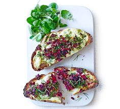 Goat's cheese, cider and grated beetroot take this classic Welsh version of cheese on toast to the next level Bbc Good Food Recipes, Vegetarian Recipes, Savoury Recipes, Small Food Processor, Food Processor Recipes, Bagel Bites, Cheese Toast, Latest Recipe, Spring Recipes
