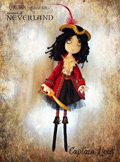 Art Doll OOAK - Captain Hook Urchin essence of Neverland