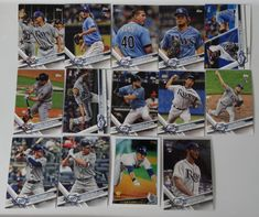 2017 Topps Update Rays Master Team Set of 14 Baseball Cards W/ SP Variations #topps #TampaBayRays