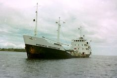 MT Pacific Navigator, at anchor, Suva Harbour. (1980)